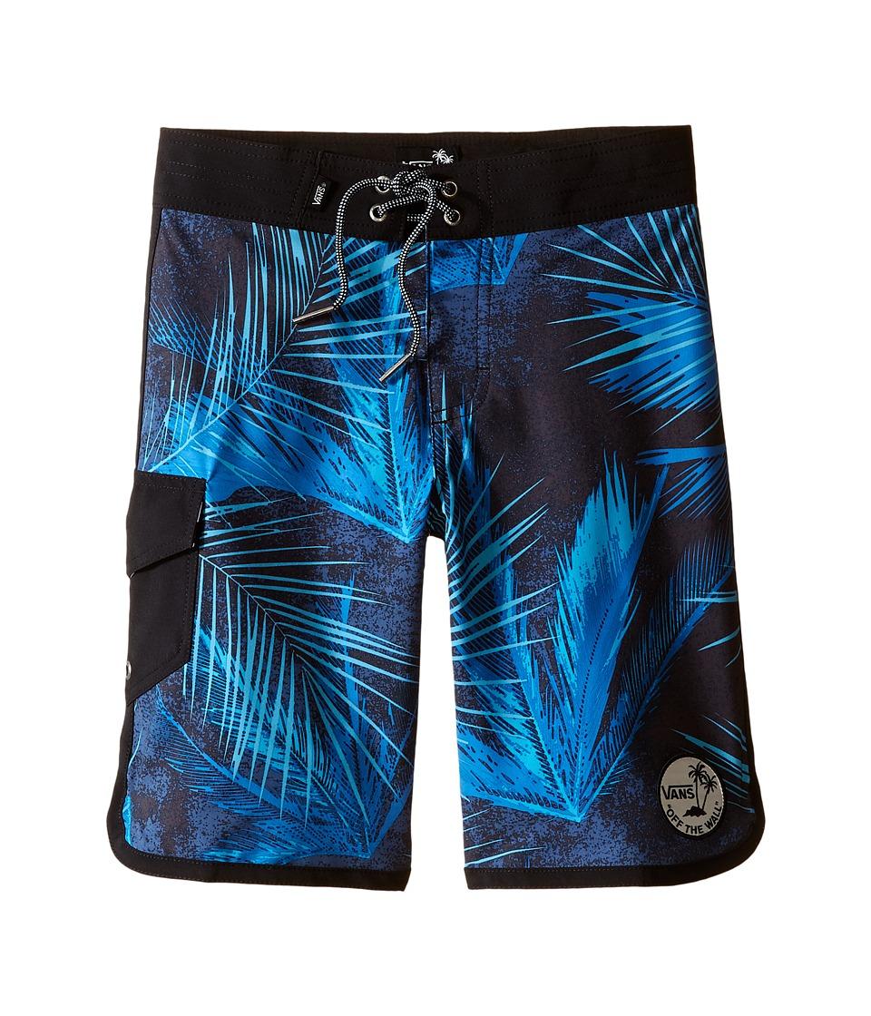 Vans Kids - Mixed Scallop Boardshorts (Little Kids/Big Kids) (Black/Acid Palm) Boy's Swimwear