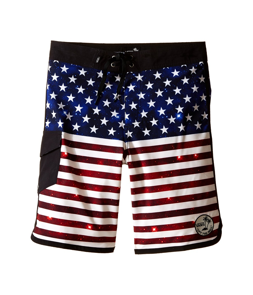 Vans Kids Mixed Scallop Boardshorts (Little Kids/Big Kids) (Americana) Boy