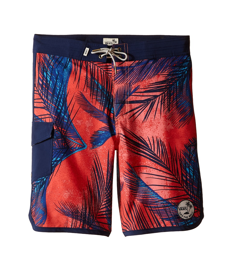Vans Kids - Mixed Scallop Boardshorts (Little Kids/Big Kids) (Dress Blues/Acid Palm) Boy's Swimwear