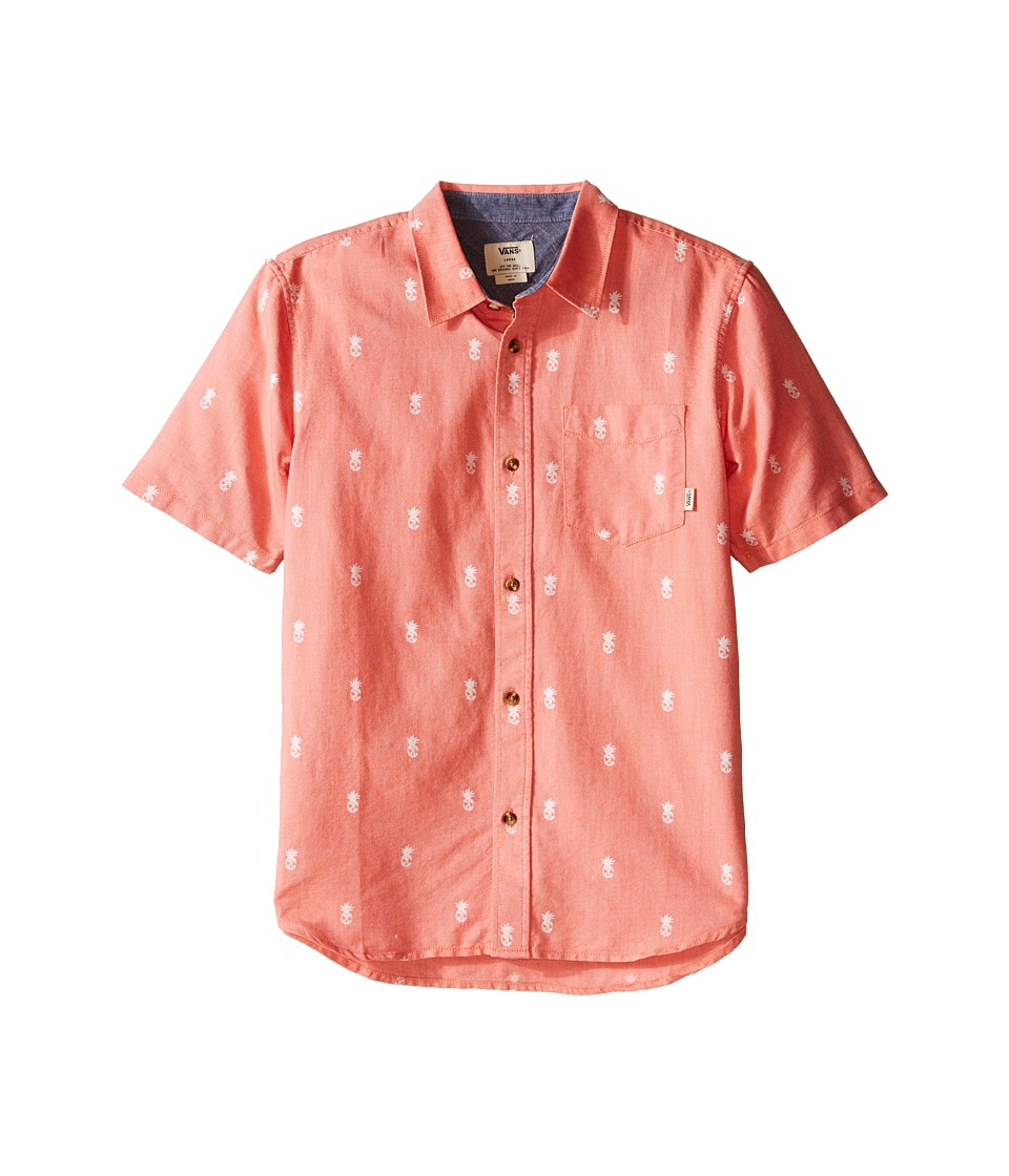 Vans Kids - Houser S/S (Big Kids) (Nasturtium Forbidden Fruit) Boy's Short Sleeve Button Up