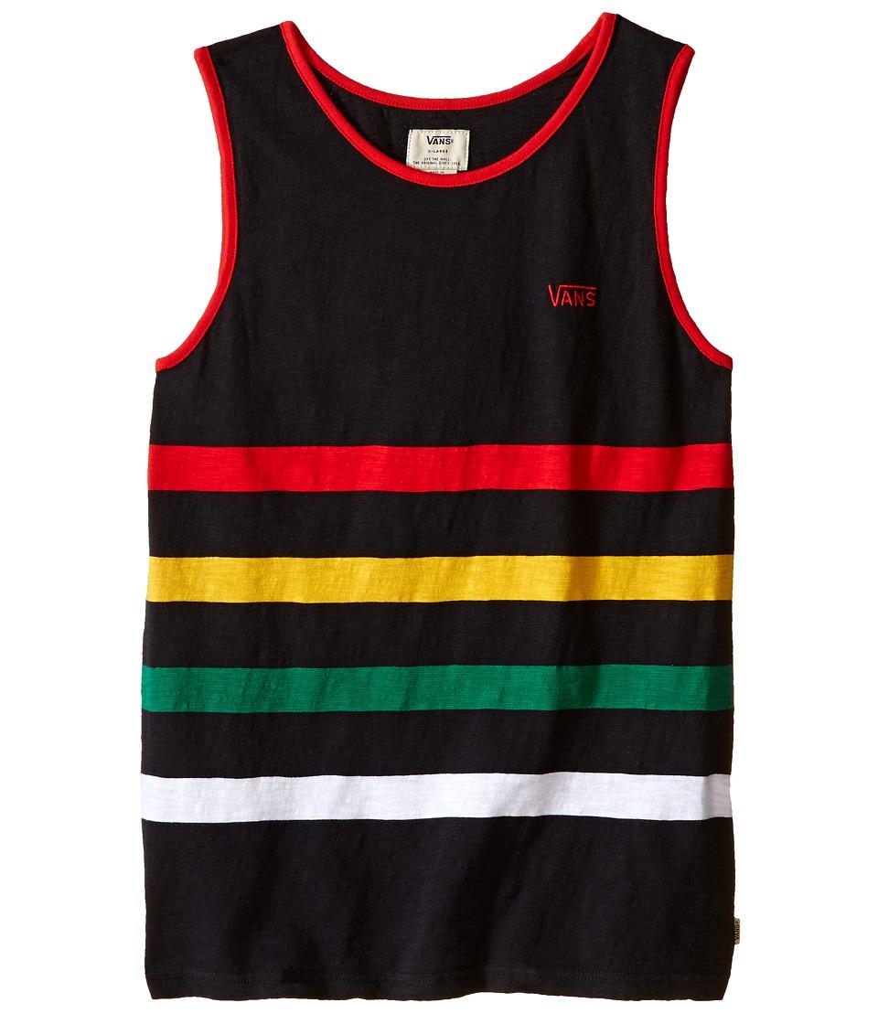 Vans Kids - Sarver (Big Kids) (Black) Boy's Clothing