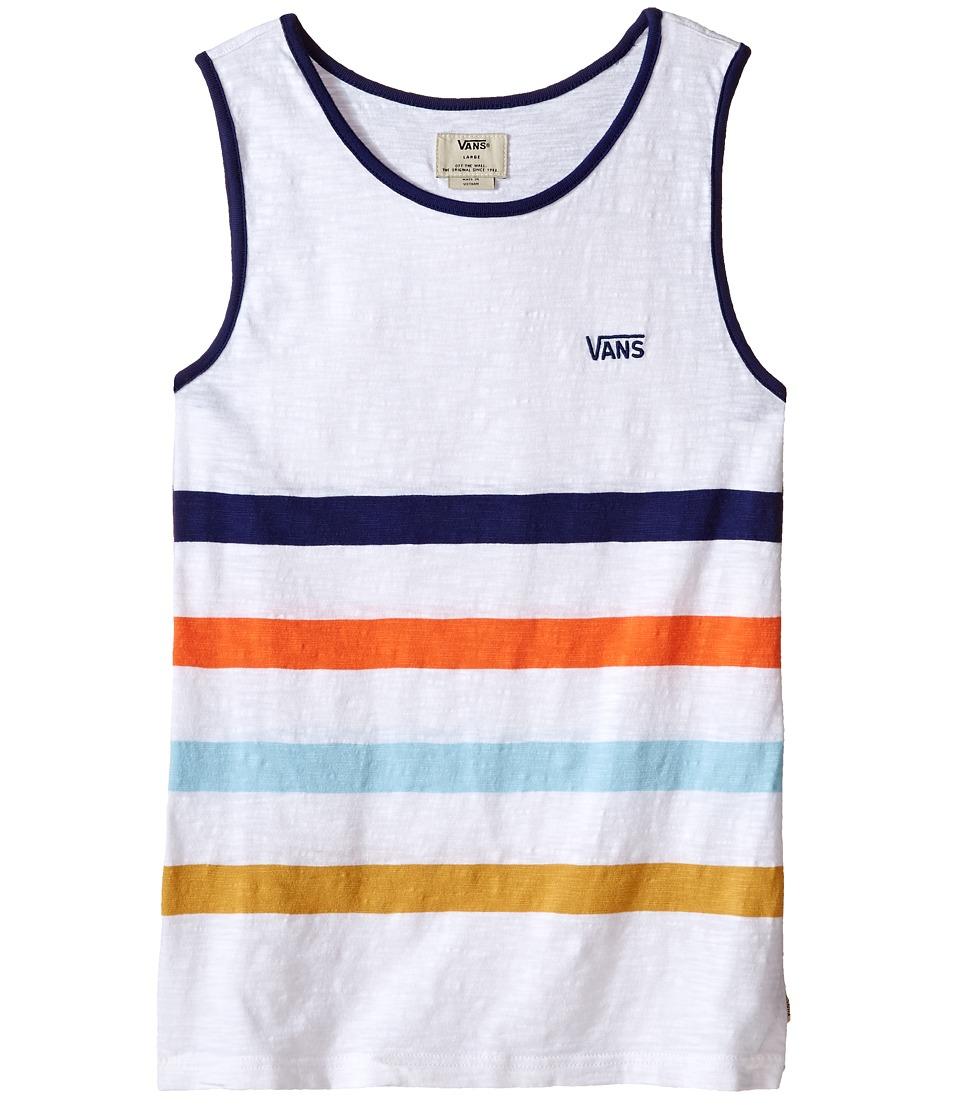 Vans Kids - Sarver (Big Kids) (Bright White) Boy's Clothing