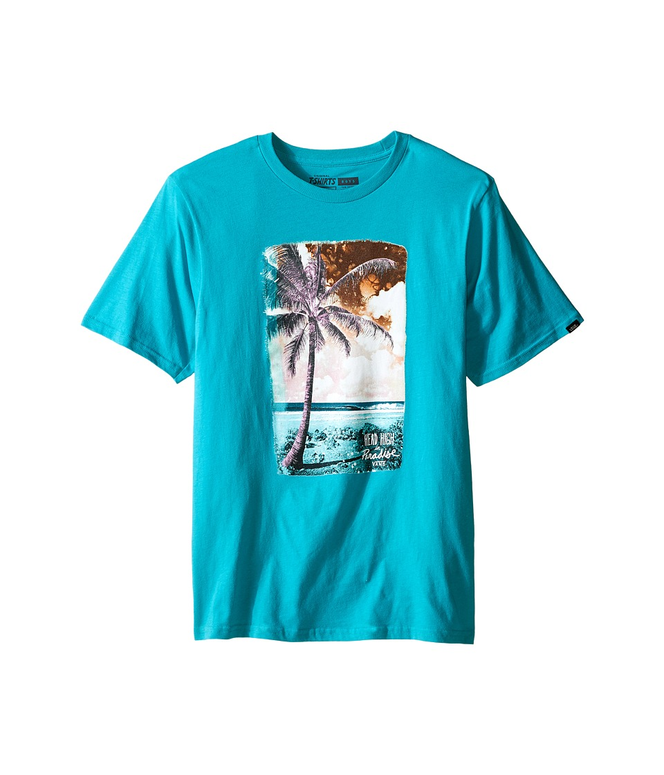 Vans Kids - Solo Palm (Big Kids) (Teal) Boy's T Shirt