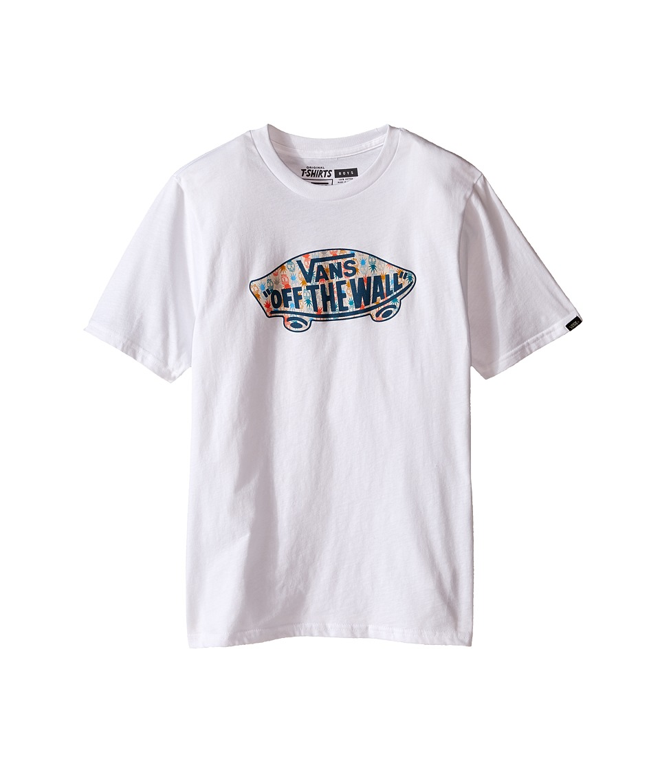 Vans Kids - OTW Logo Fill T-Shirt (Big Kids) (White/Pineapple Print) Boy's T Shirt