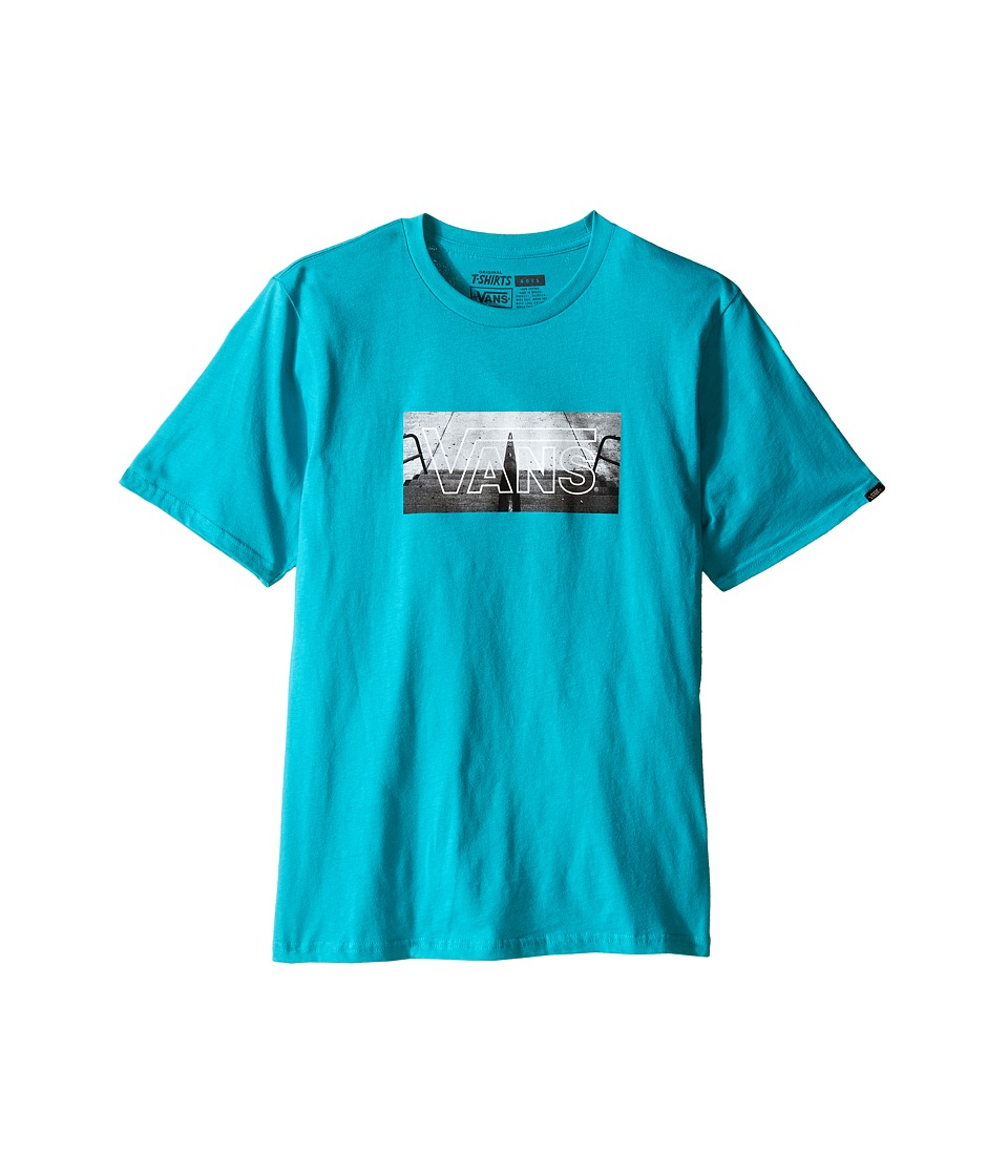 Vans Kids - Knobbed Rail (Big Kids) (Teal) Boy's T Shirt