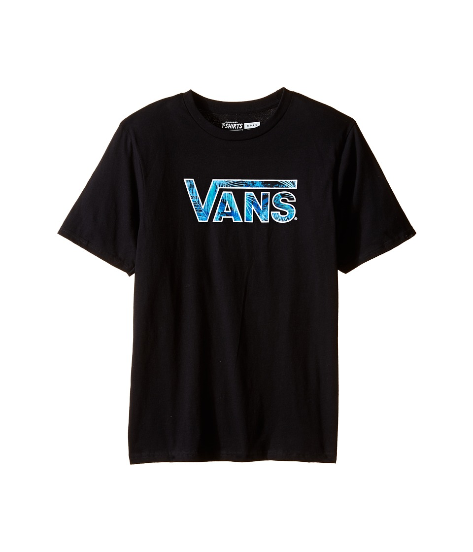 Vans Kids - Classic Logo Fill (Big Kids) (Black/Acid Palm) Boy's T Shirt