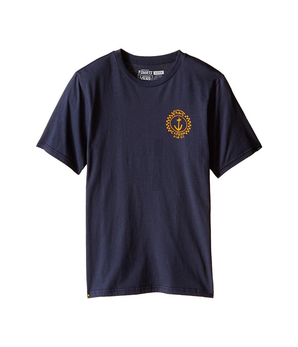 Vans Kids - Capt Fin Anchor Tee (Big Kids) (Navy) Boy's T Shirt