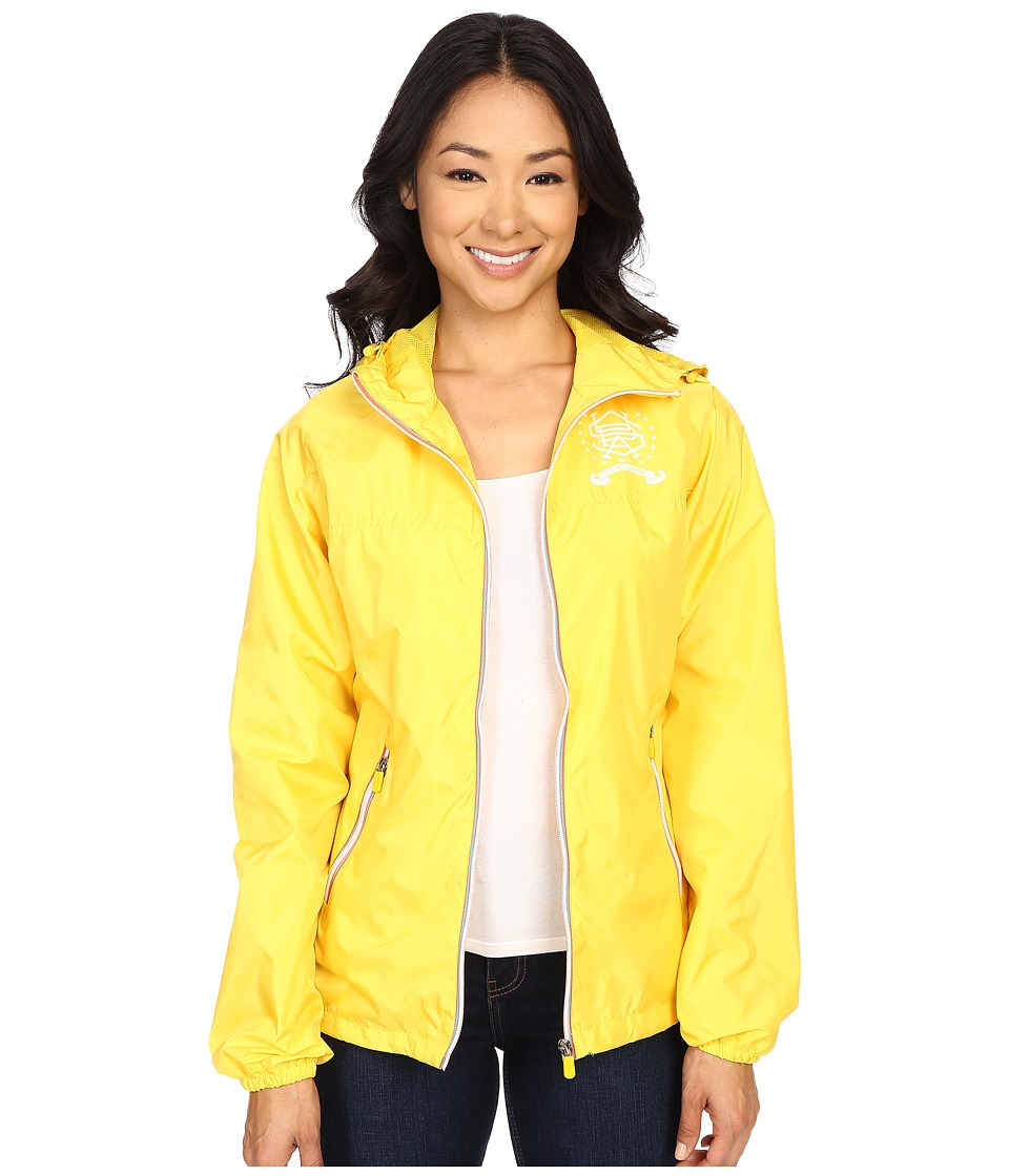 U.S. POLO ASSN. - Hooded Windbreaker Jacket (Sailing Yellow) Women's Coat