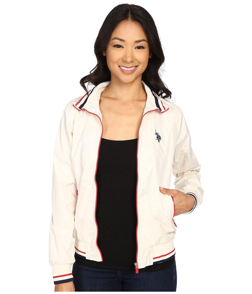 U.S. POLO ASSN. - Solid Pongee Windbreaker Jacket (Snow White) Women's Coat