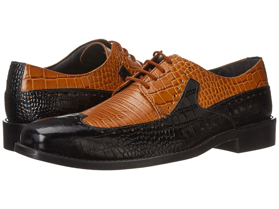 Stacy Adams - Portello (Black/Scotch) Men