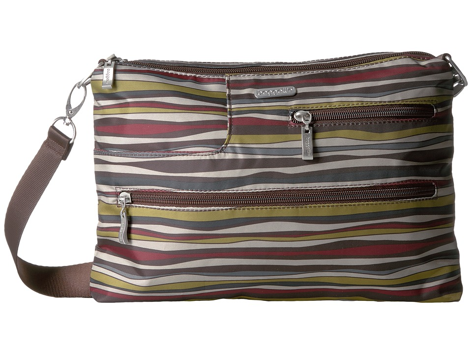 Baggallini - Tablet Crossbody (Java Stripe) Cross Body Handbags
