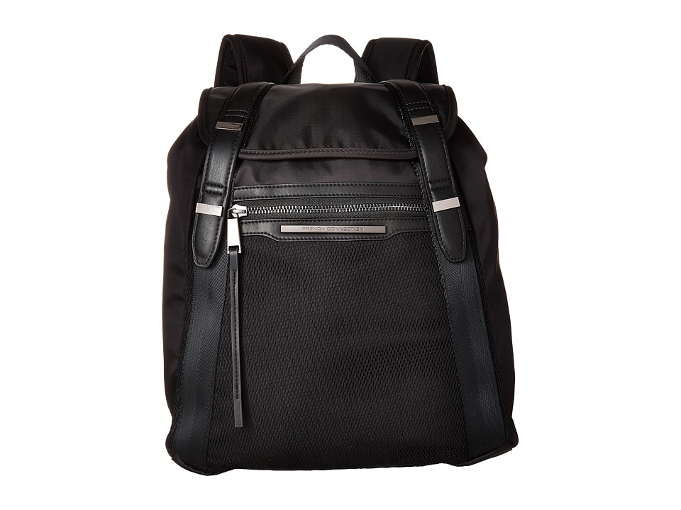 French Connection - Indy Backpack (Black) Backpack Bags