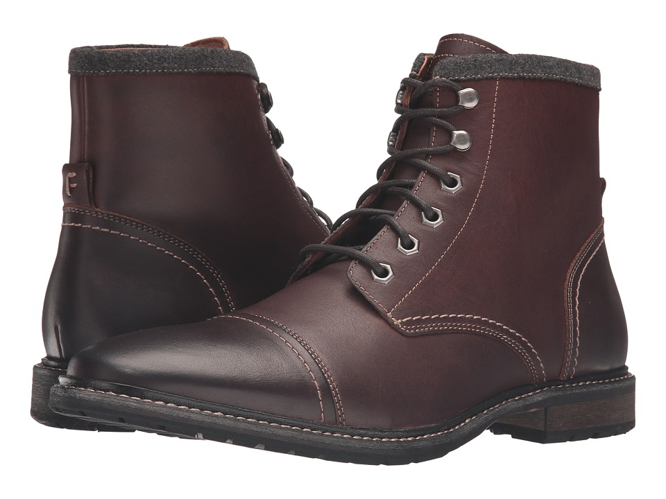 Florsheim - Indie Cap Toe Boot (Chestnut Smooth) Men's Lace-up Boots