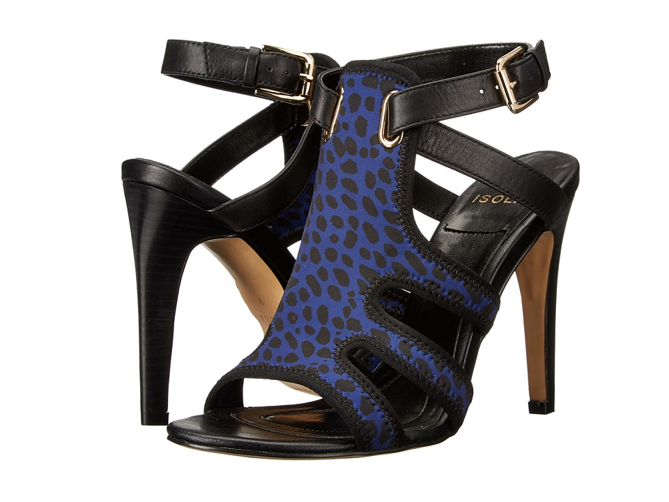 Isola Benita (Ink Blue/Black Lycra Spotted Leopard/Cow Quilin) High Heels