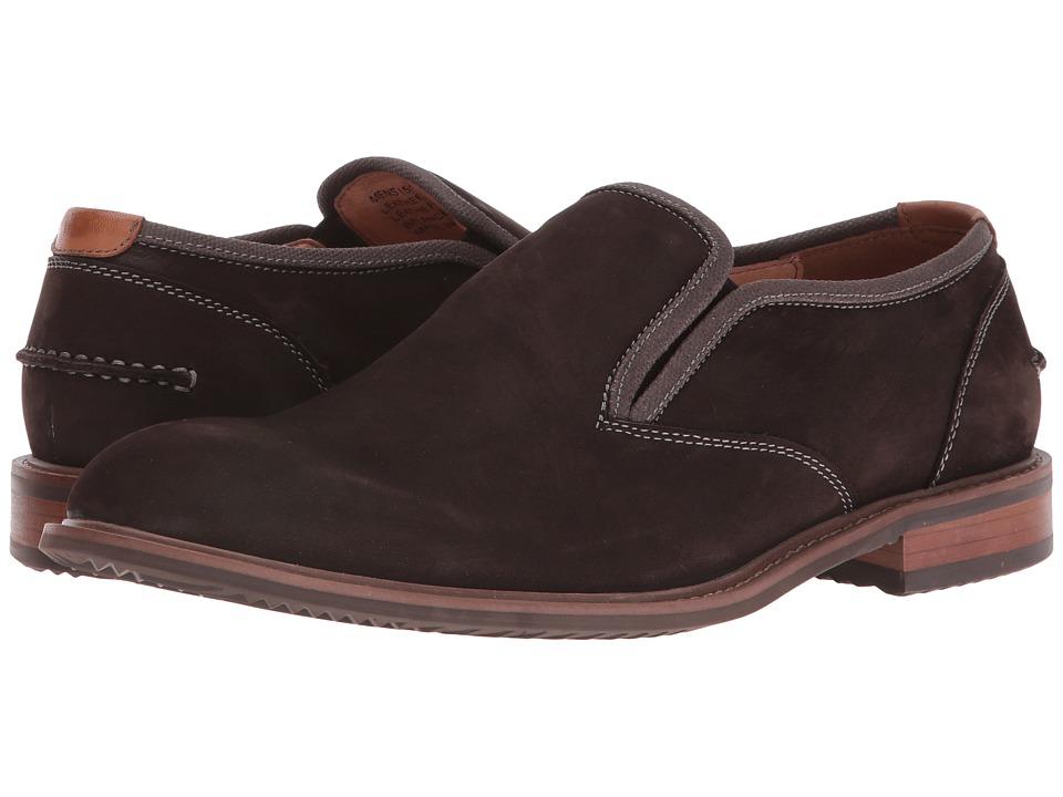 Florsheim - Frisco Plain Toe Slip-On (Brown Nubuck) Men's Plain Toe Shoes