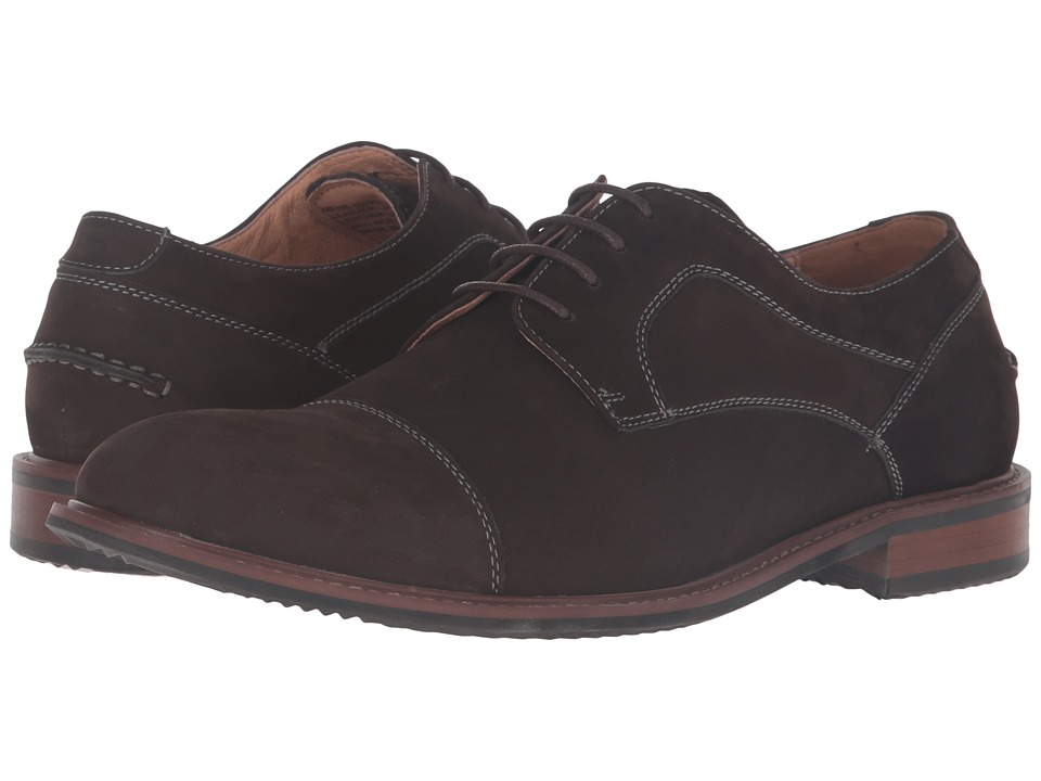 Florsheim - Frisco Cap Toe Oxford (Brown Nubuck) Men's Lace Up Cap Toe Shoes