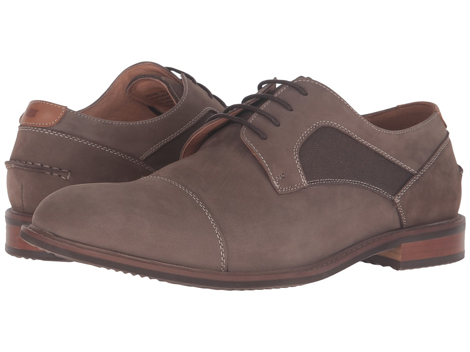 Florsheim - Frisco Cap Toe Oxford (Taupe Nubuck) Men's Lace Up Cap Toe Shoes
