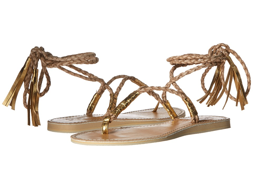 L*Space - Gili Ankle Wrap Braid Sandals (Sand) Women's Sandals