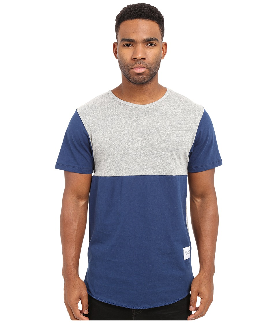 KINETIX - Jefferson Tee (Gray/Blue) Men's T Shirt