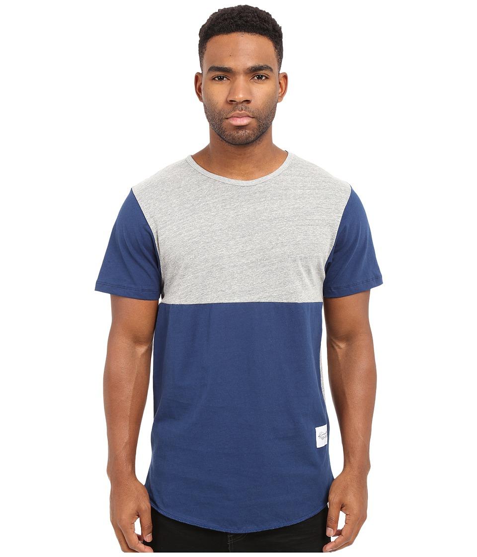 KINETIX - Jefferson Tee (Gray/Blue) Men's T Shirt