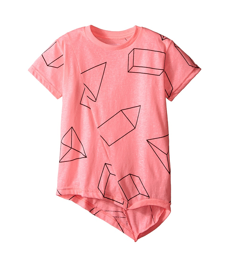 Nununu - Geometric Penguin Shirt (Infant/Toddler/Little Kids) (Pink) Kid's Short Sleeve Pullover