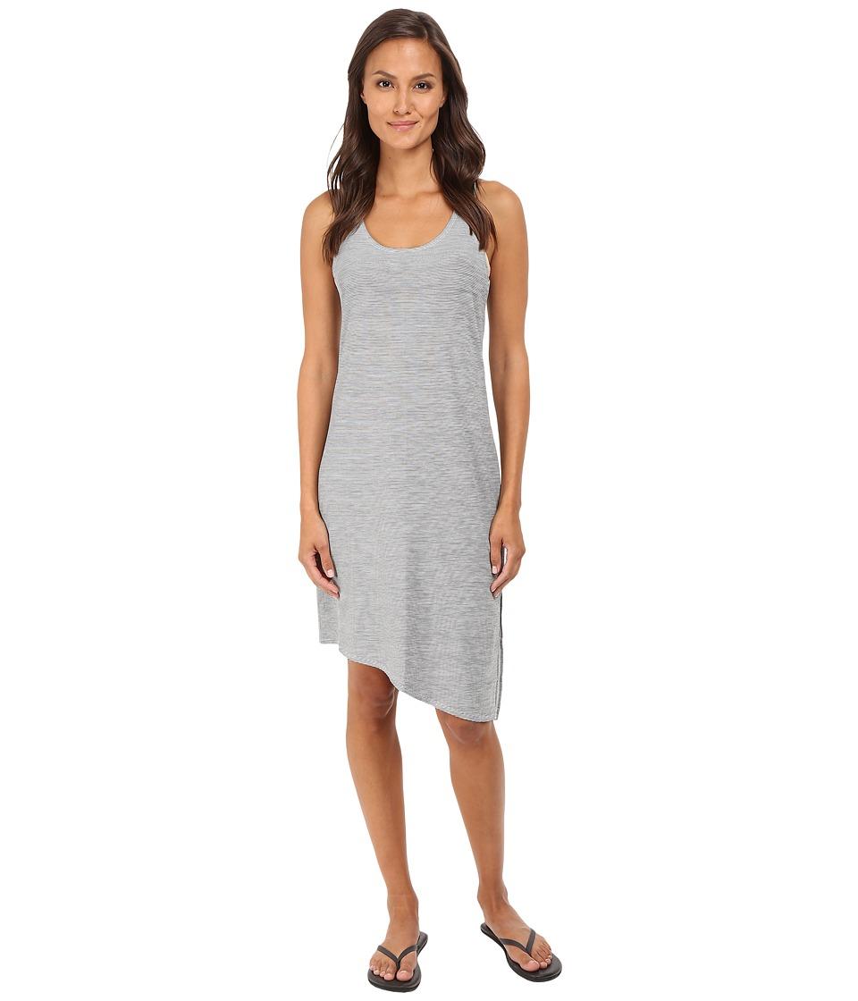 Manduka - Racerback Dress (Grey/White Stripe) Women's Dress