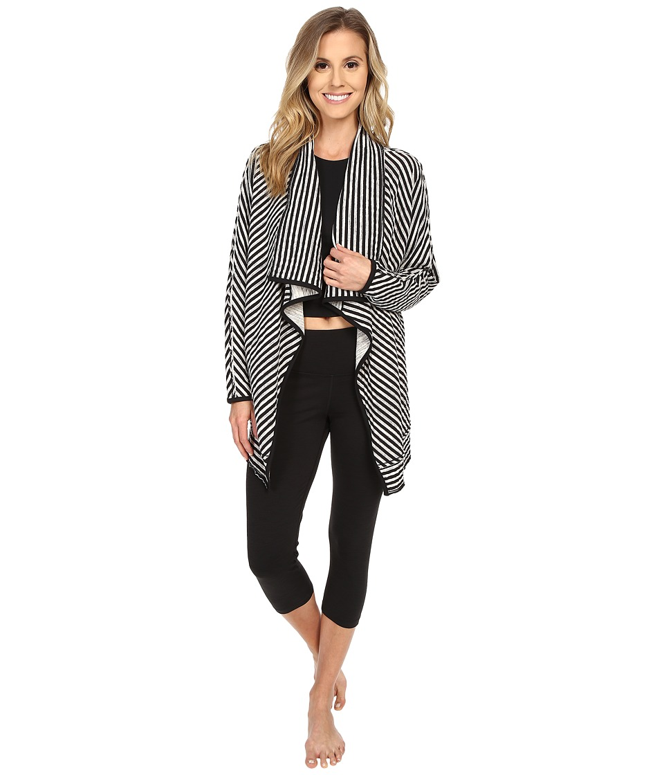 Manduka - Polarity Cardigan (Black/White) Women's Sweater