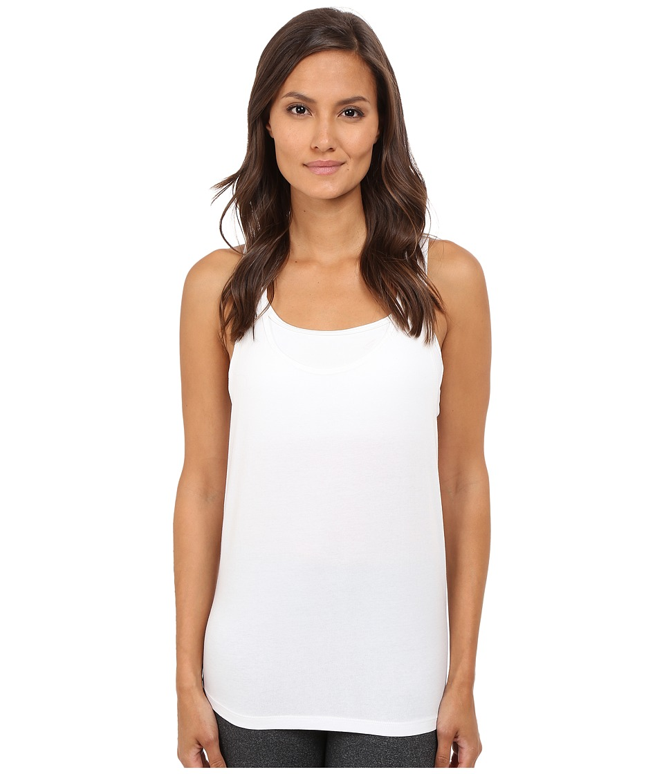 Manduka - Tie Back Tank Top (White) Women's Sleeveless
