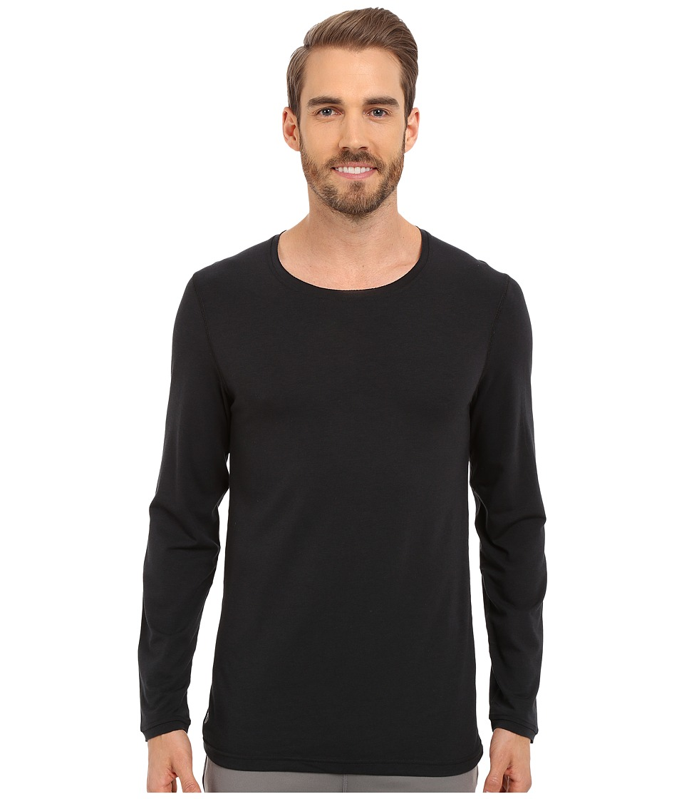 Manduka - Transcend Long Sleeve Tee (Black) Men's T Shirt