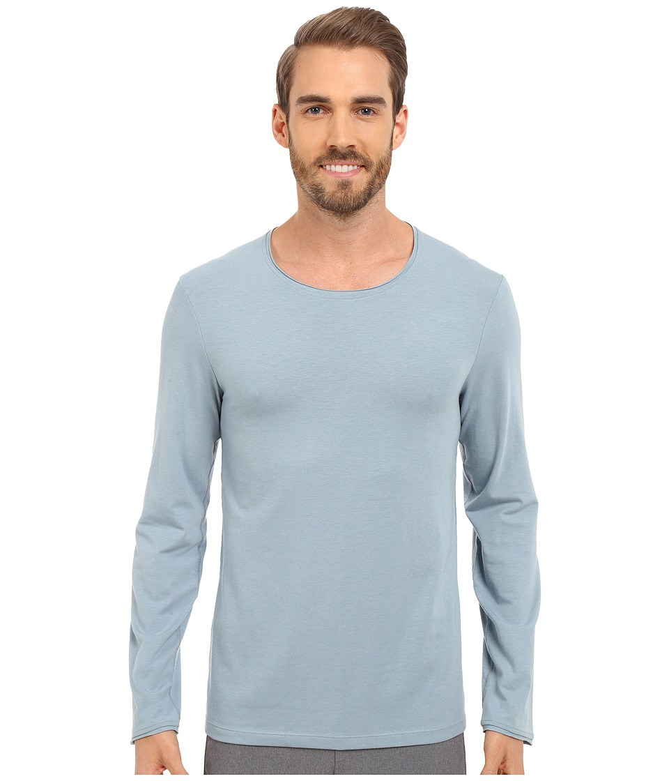 Manduka - Transcend Long Sleeve Tee (Steel Blue) Men's T Shirt