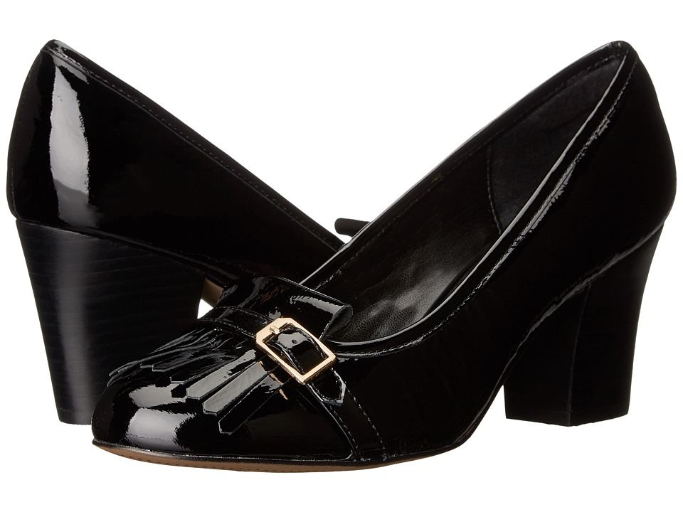 Isola - Tara (Black Goat Crinkle Patent) High Heels