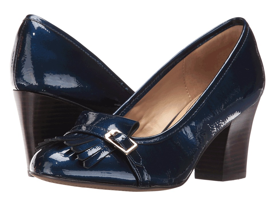 Isola - Tara (Ink Blue Goat Crinkle Patent) High Heels
