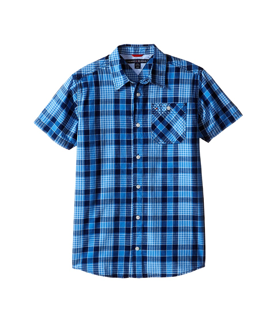 Tommy Hilfiger Kids - Rothwell Short Sleeve Woven Shirt (Big Kids) (Flag Blue) Boy's Short Sleeve Button Up