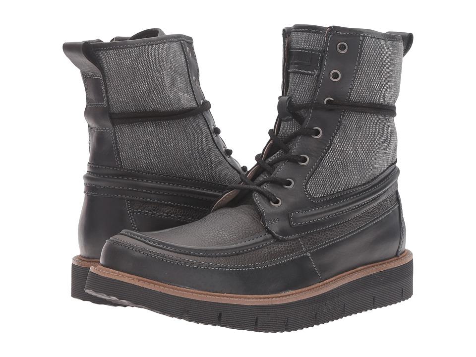Steve Madden Redmund Black Mens Lace-up Boots