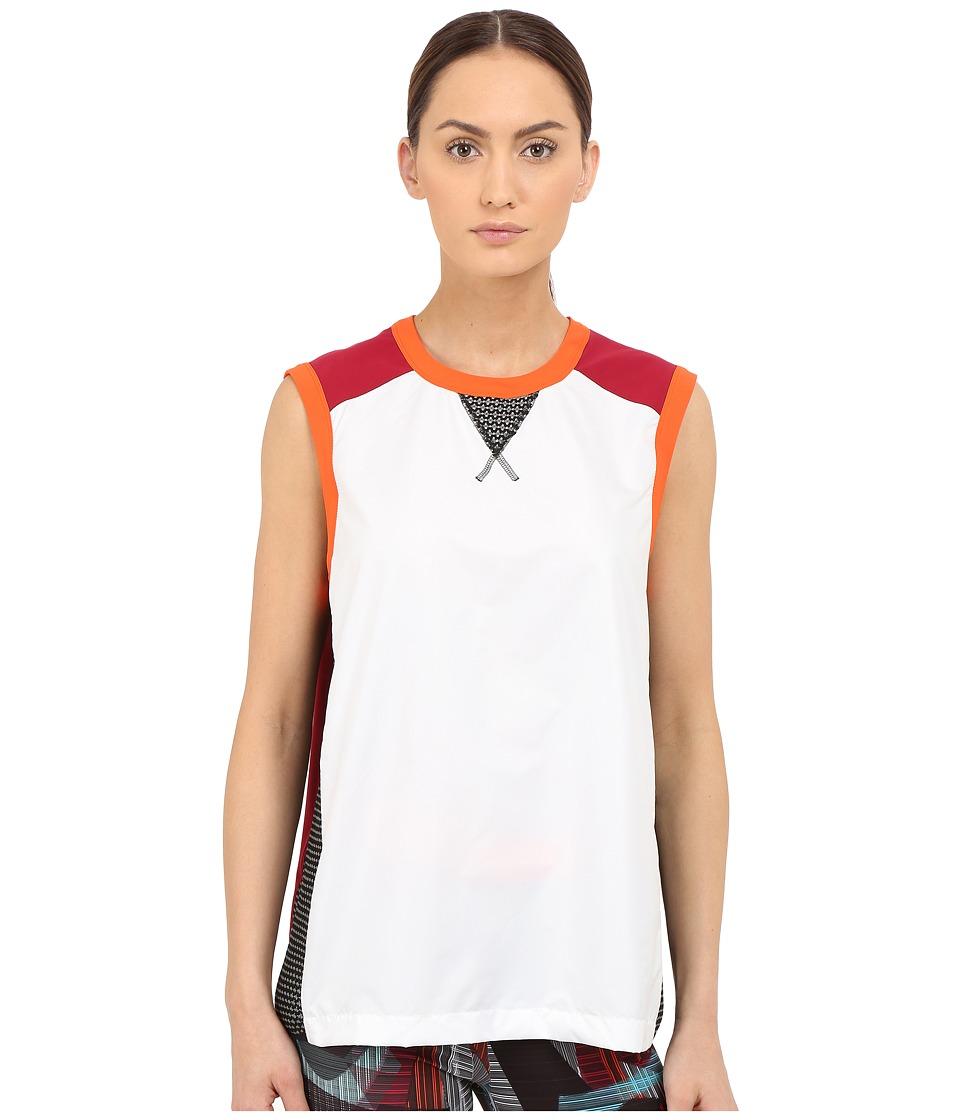 NO KA'OI - Lena Top (White/Orange/Red) Women's Sleeveless