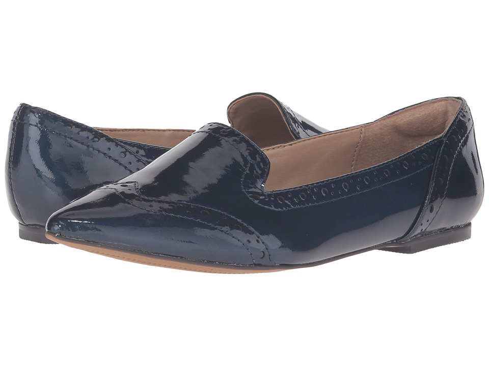 Isola - Christie (Ink Blue Goat Crinkle Patent) Women's Flat Shoes