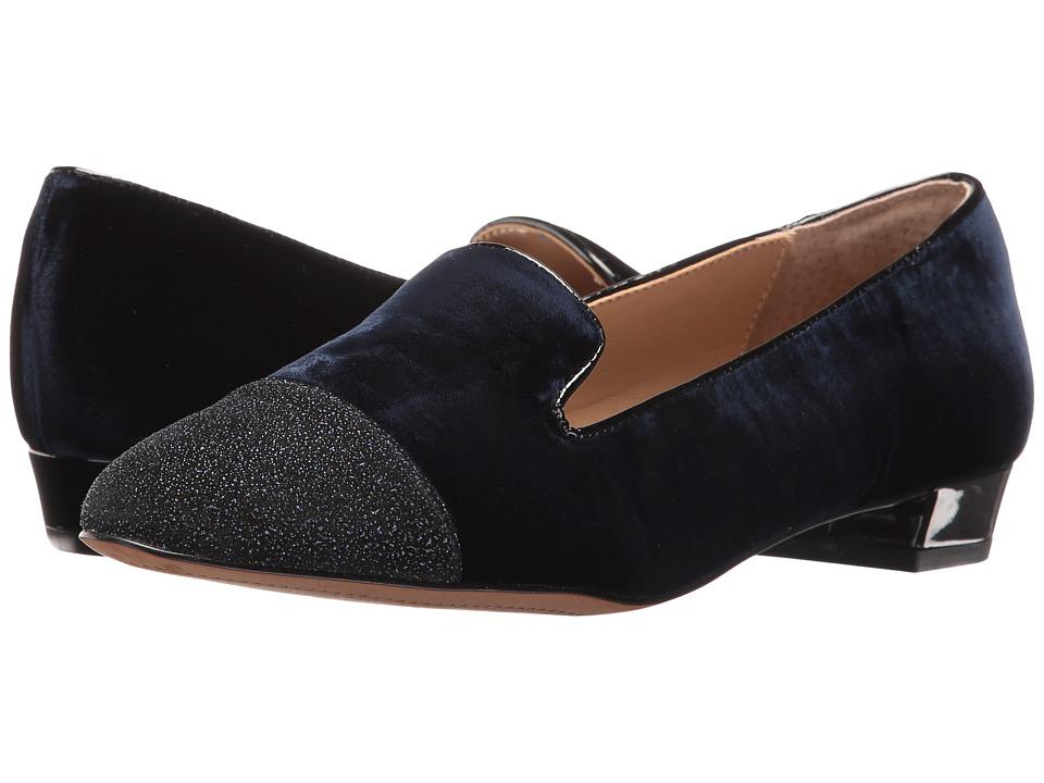 Isola - Coventry (Marine Letiza Velvet) Women's Flat Shoes