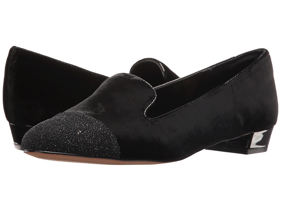 Isola - Coventry (Black Letiza Velvet) Women's Flat Shoes