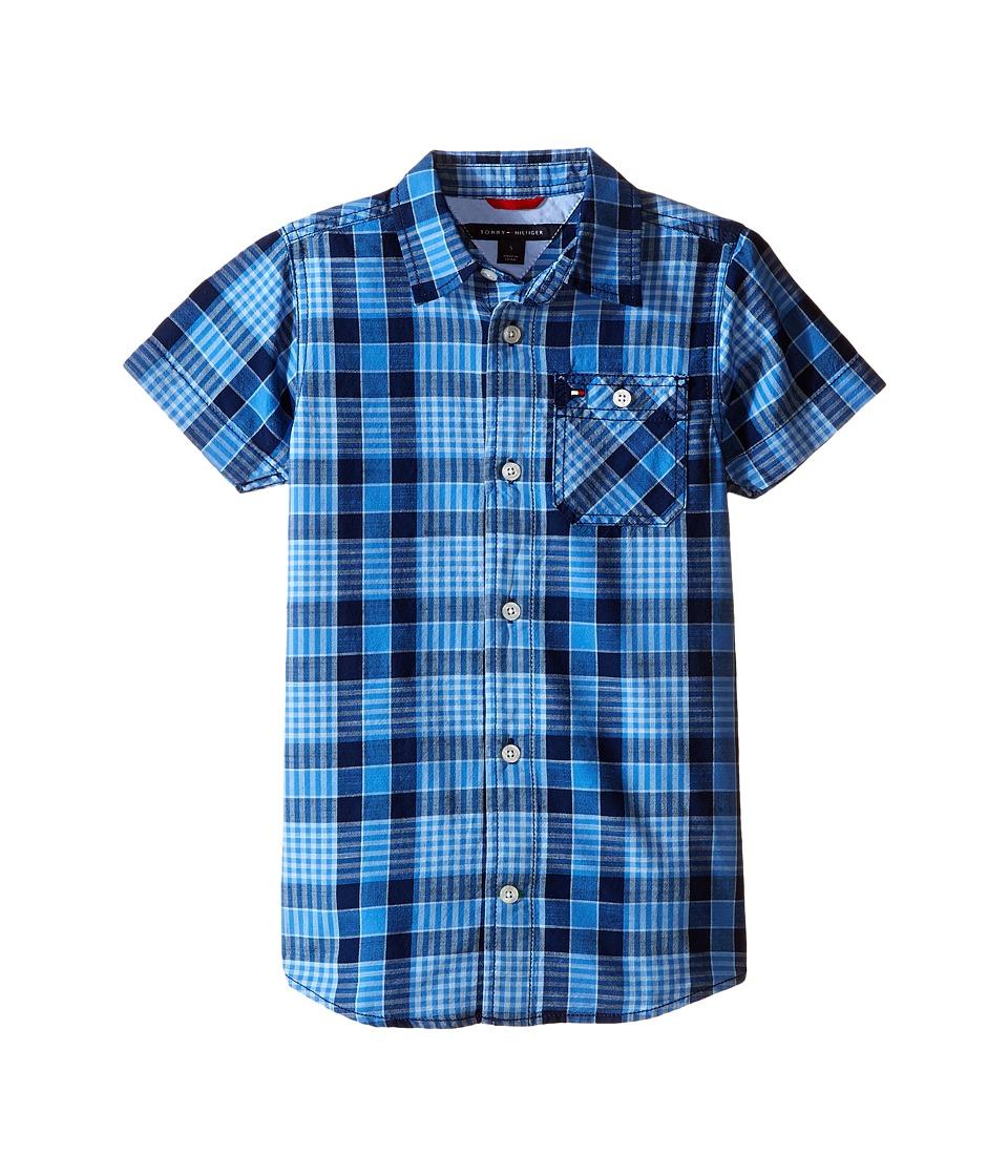 Tommy Hilfiger Kids - Rothwell Short Sleeve Woven Shirt (Toddler/Little Kids) (Flag Blue) Boy's Short Sleeve Button Up