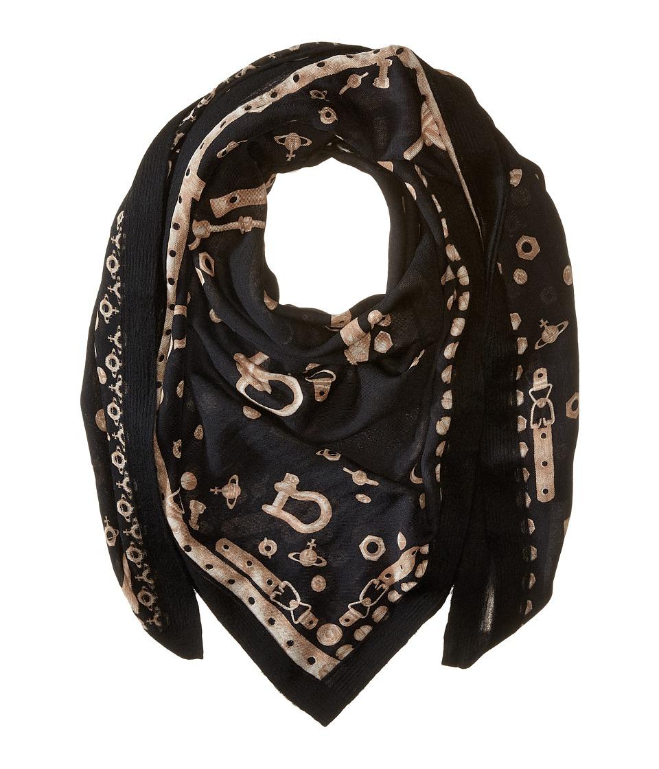 Vivienne Westwood - Hardware (Black) Scarves