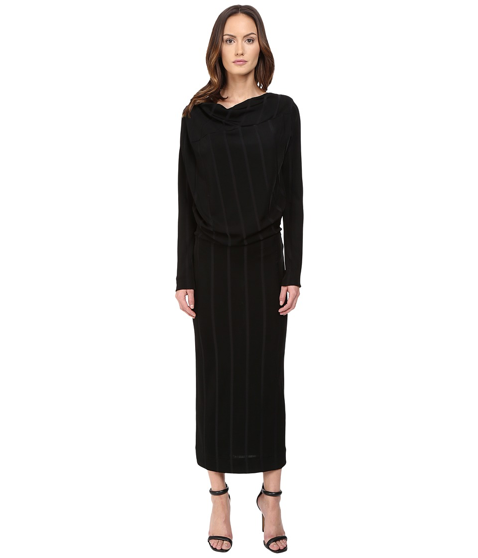 Vivienne Westwood Midi Long Sleeve Boudicca Dress (Black) Women