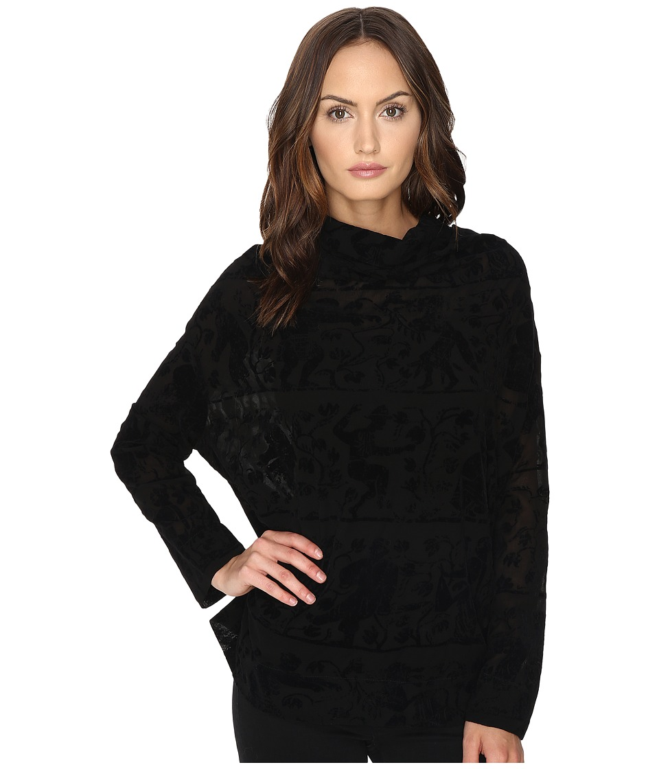 Vivienne Westwood - Long Sleeve Fold Blouse (Black) Women's Blouse