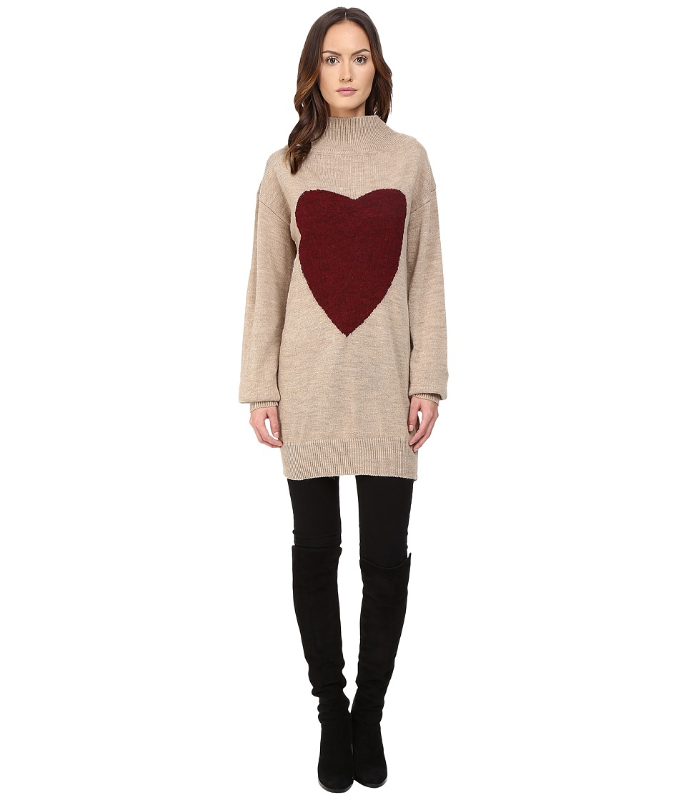 Vivienne Westwood - Heart Frost Jumper (Natural/Red) Women's Sweater