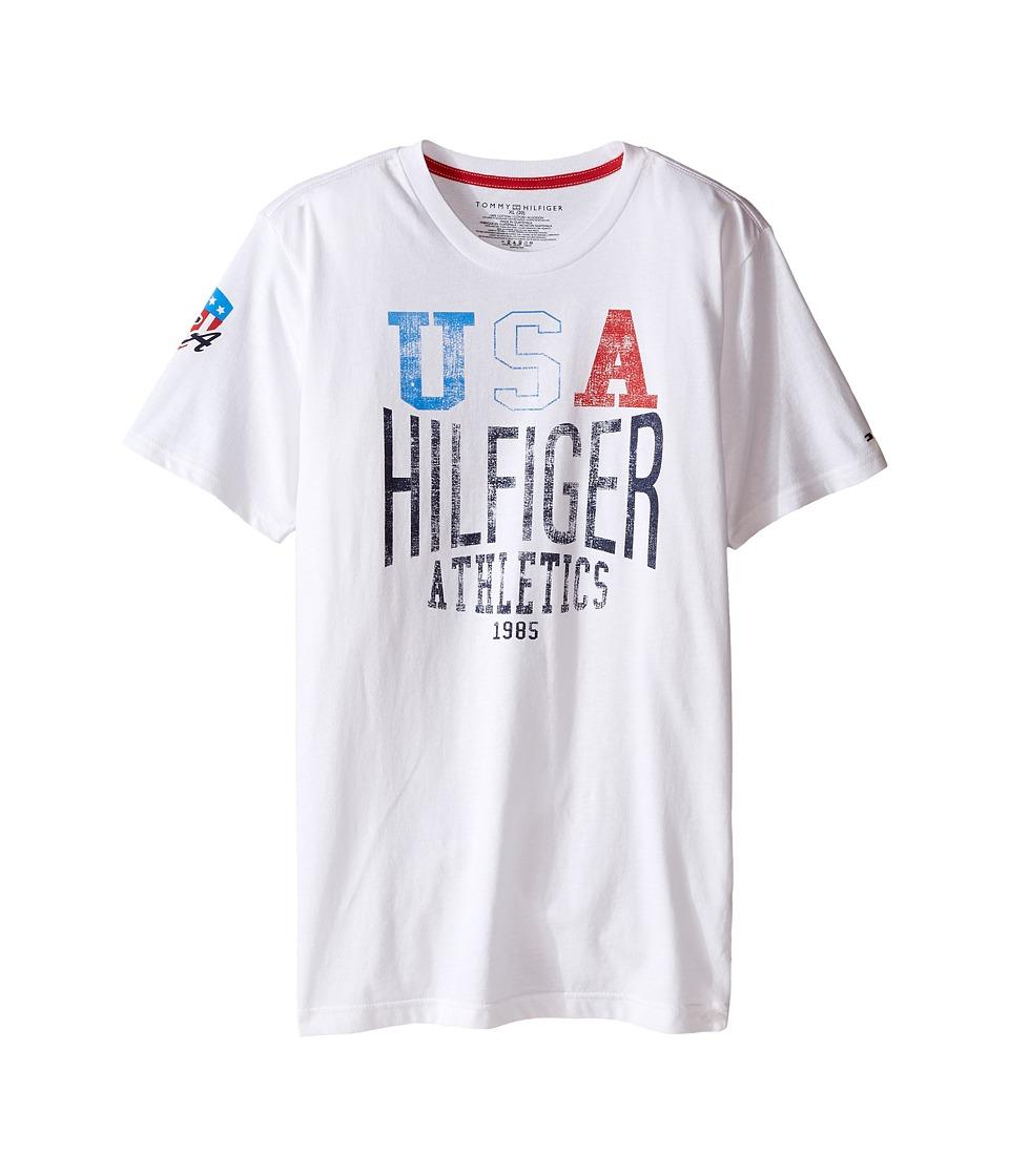 Tommy Hilfiger Kids - Logan Tee (Big Kids) (White) Boy's T Shirt