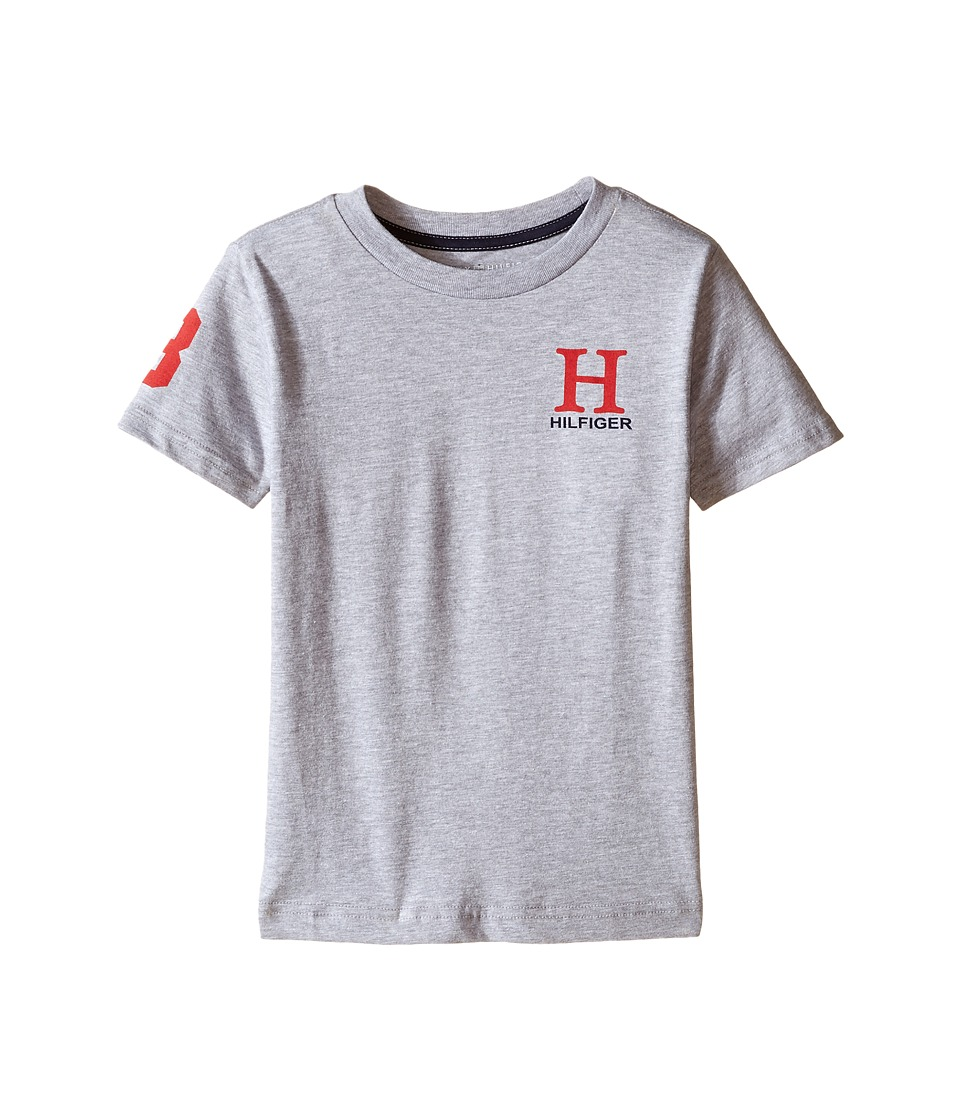 Tommy Hilfiger Kids - Jerry Tee (Toddler/Little Kids) (Tommy Hilfiger Grey Heather) Boy's T Shirt