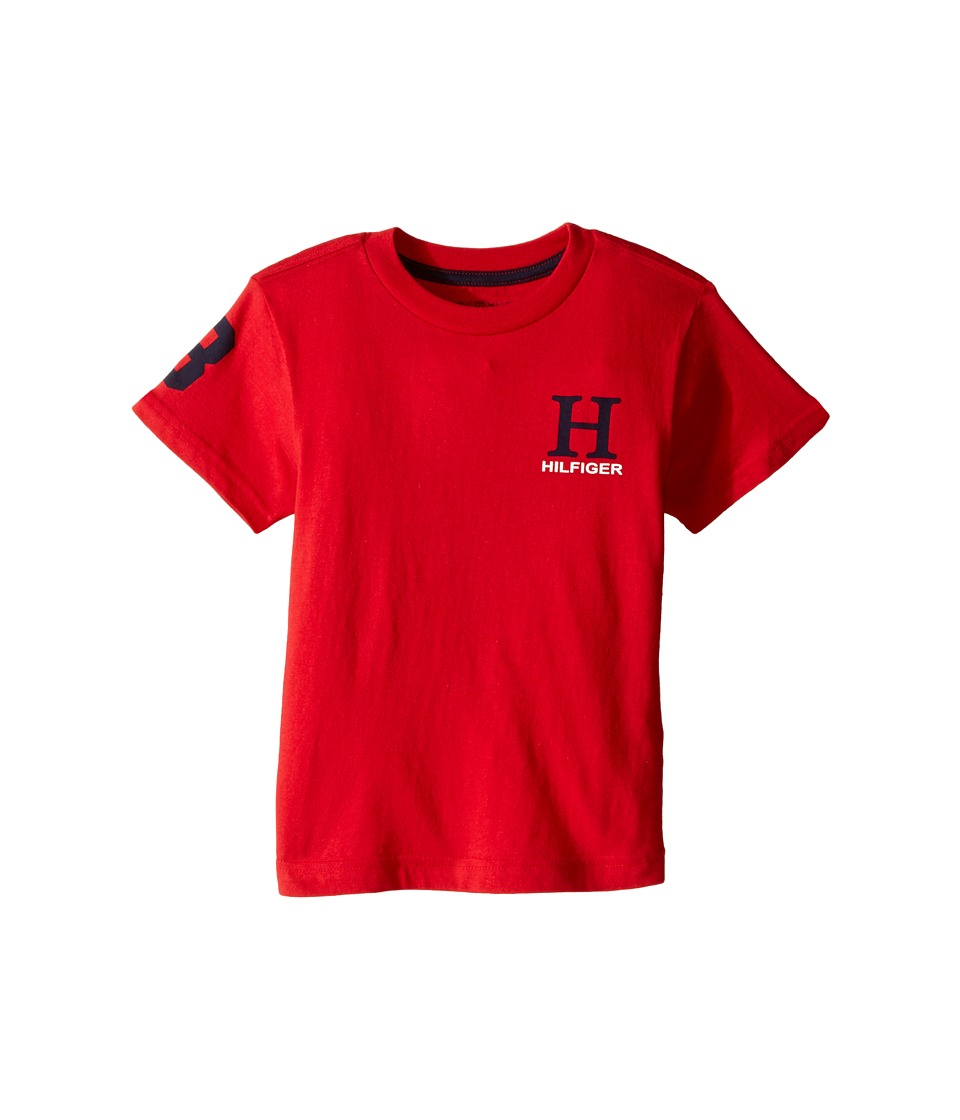 Tommy Hilfiger Kids - Jerry Tee (Toddler/Little Kids) (Apple Red) Boy's T Shirt