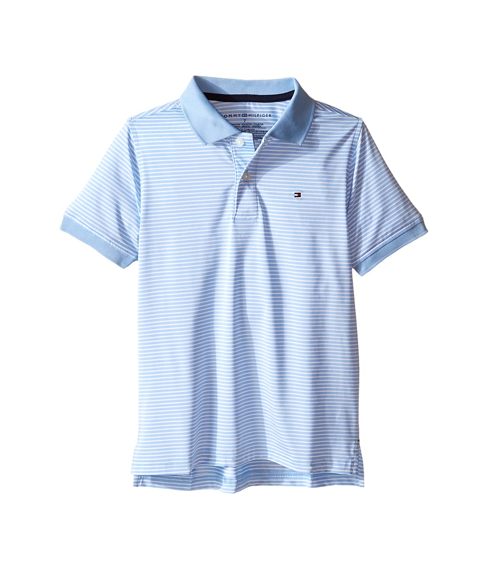 Tommy Hilfiger Kids - Feeder Stretch Synthetic Stripe Polo (Toddler/Little Kids) (Alastan Blue) Boy's Clothing