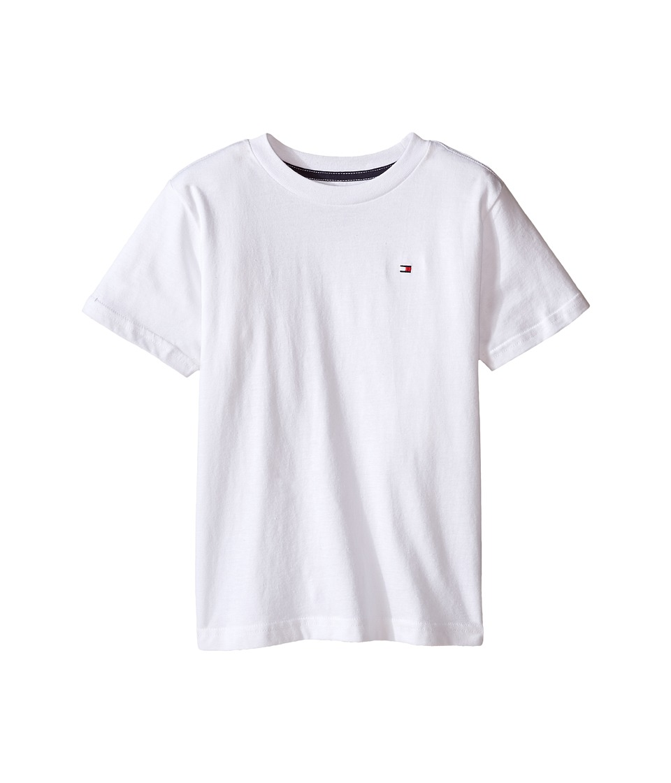 Tommy Hilfiger Kids - Tony Tee (Toddler/Little Kids) (White) Boy's T Shirt