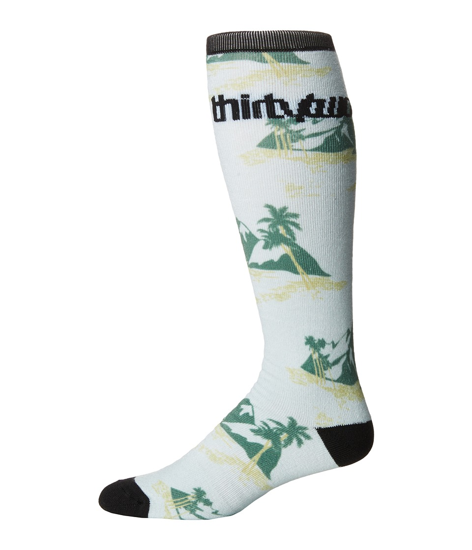 thirtytwo - Mt Aloha Sock (Grey) Men's Crew Cut Socks Shoes