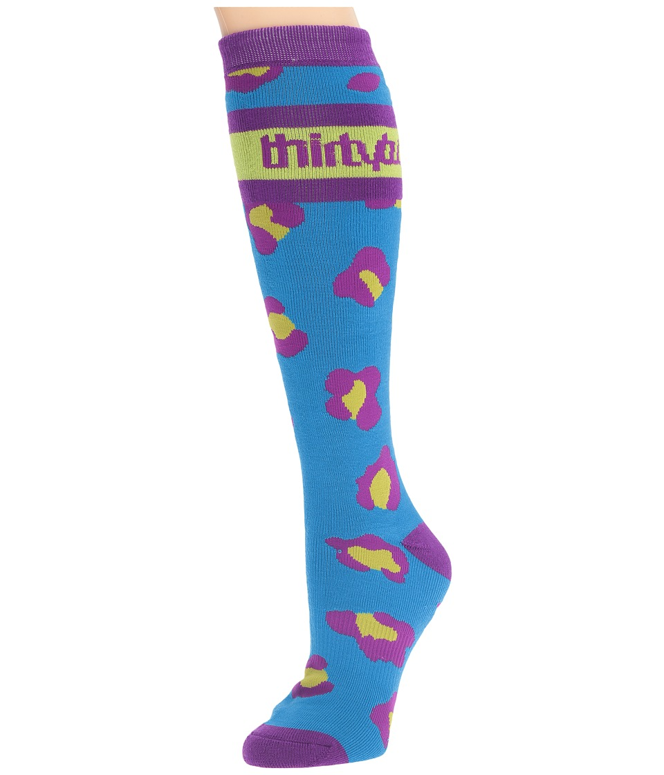 thirtytwo - Merced Sock (Cyan) Women's Crew Cut Socks Shoes
